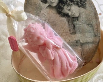 """Handmade soap """"Angel"""" in a vintage box"""