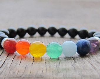 7 chakras bracelet meditation bracelet Yoga jewellery Chakra jewellery Balance bracelet Yoga bracelet men mala bracelet chakra mens bracelet