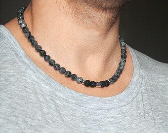 Mens gift Mens necklaces Libra necklace September birthstone Libra zodiac sign necklace Mens bead necklace Libra birthstone Zodiac gifts