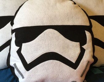 Storm Trooper, Star Wars inspired, Geeky felt stuffed plush toy pillow