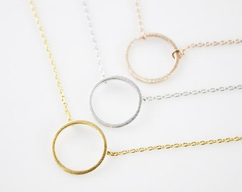 Simple Circle Necklace Bridesmaid Gift Bridesmaid Necklace Dainty and Delicate Necklace Birthday Gift