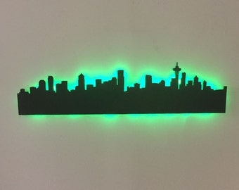 Seattle Skyline City Skyline LED Sign