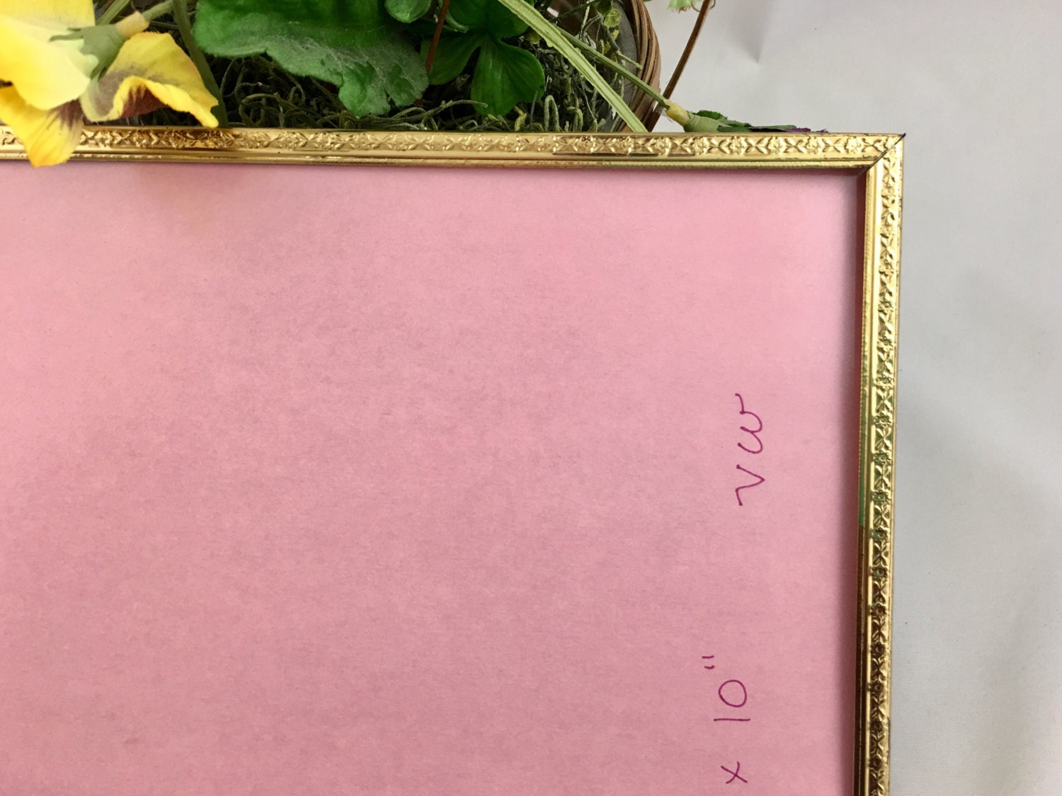 Vintage 8x10 embossed ornate gold metal picture frame photo frame sold by loftatticearth jeuxipadfo Image collections