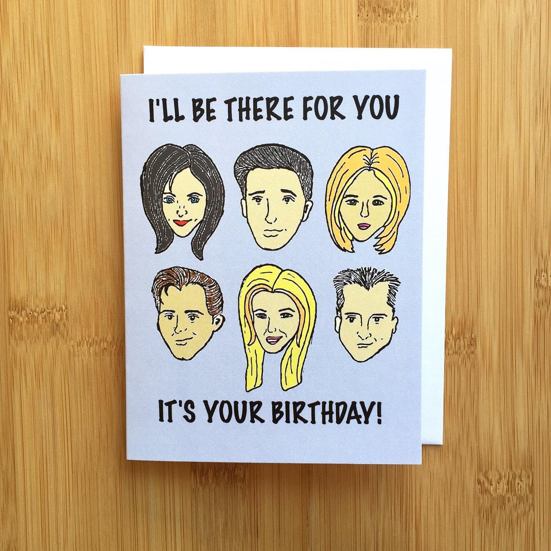 Friends TV Show Birthday Card Handmade A2 90s Monica Ross