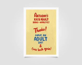 Ghost World Anthony's XXX Art Print // wall art, daniel clowes, thora birch
