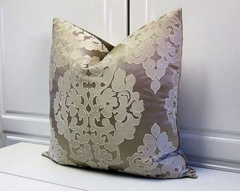 Champagne Medallion Pillow Cover