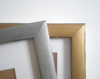 "Silver photo frame Gold picture frame 10x10"" frame 25x25cm frame home decor Wedding Frame painted frames handmade solidwoodshop"