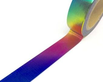 Rainbow Foil Washi Tape 15mm x 10m