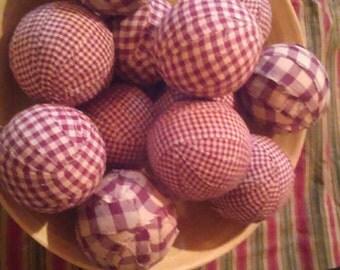 Handmade rag balls your choice of colors (burgundy shown)