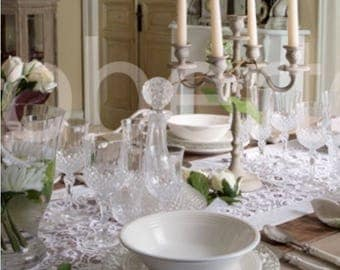 Chantilly lace table runner