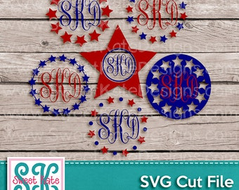 "Shop ""monogram circle svg"" in Scrapbooking Supplies"