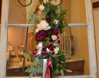 pew Flowers, Aisle Flowers, Church Aisle Flowers, Church Pew Flowers, Silk Pew Flowers, Chair Wedding Flowers