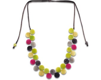 Eco Friendly Necklace ZigZag Tagua Adjustable Necklace Sustainable Colombia Necklace