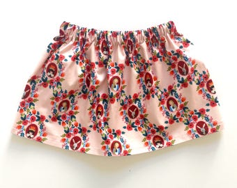 ROSE CAMEOS // alice in wonderland skirt // rifle paper co// baby and toddler skirt