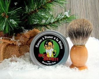 Beer Shaving Soap RazzBocket - with shaving brush