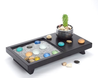 Office Decor/ Gift for Teacher/ Decorative Tray/ Zen Garden/ Tray/ Office Desk Accessories/ Office Desk/ Office Gifts/ Relaxation Gifts