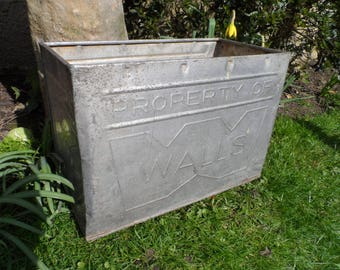 1960s - 1970s All Metal Walls Ice Cream with the Old Walls Logo Ice Cream Transport box Ideal garden planters and or home storage box