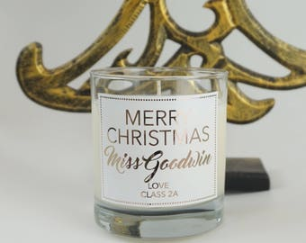 Christmas Personalised Candle - christmas candle - scented candle - prosecco candle - best christmas gift - prosecco gift - gift for grandma