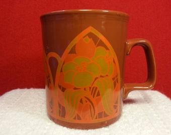 Vintage Flower Mug Made in England by Staffordshire Potteries Ltd.