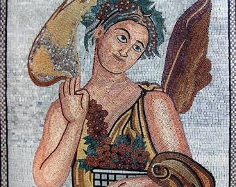 Eshmun The God Of Healing Handmade Mosaic