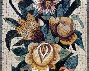 Flower Vase Of All Colors Mosaic