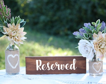 Reserved Table Signs for wedding reception, wedding decor, wedding signs, boho wedding decor, rustic wedding signs, reserved sign