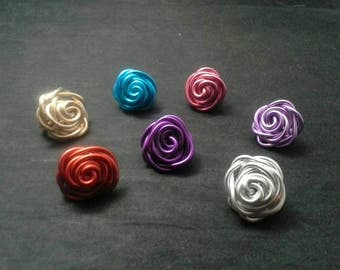 Rosebud Dreadlock Jewelry, Hair Jewelry, Loc Coils, Dreadlock Jewelry, Dreadlock Beads, Dread, Wire  Loc Jewelry,  Braid Beads
