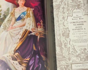 Coronation of Queen Elizabeth / Full Color Images and B&W Ads / 1953 / The Illustrated London Times