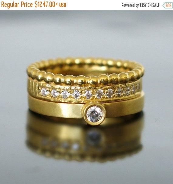 ON SALE Engagement ring gold Women wedding by RAVITKAPLANJEWELRY