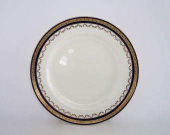Set of 4, Vintage Minton England Cobalt Blue Gold Encrusted Bone China Dinner Plates