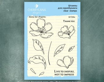 "Cherrylana Inspire Stamp Set 4x6"" Clear Photopolymer"