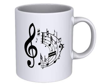 Musical Notes - Cool - Coffee Mug - Best Gift !!!