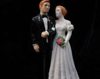 Bride and Groom Wedding Topper Vintage