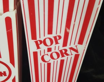 Plastic Popcorn Containers | Mixed-matched Set