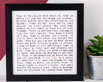 New Home Print; Housewarming Gift; New Home Gift; New Home Frame; AP036