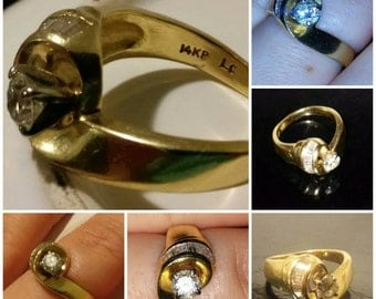 Vintage gold ring engagement ring wedding ring