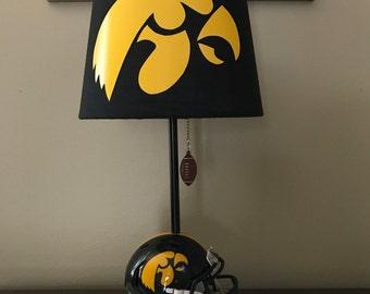 Iowa Hawkeyes football helmet lamp. NCAA SPORTS TEAM.