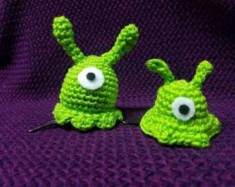 Alien Slug Hair Clips