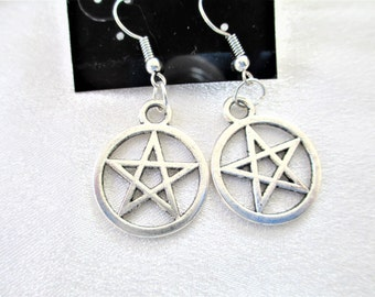 Pentacle Earrings, Pentacles, Pentagram Earrings, Pagan Earrings, Wiccan Earrings