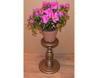 Bronze Fern stand / Plant Stand / Wood Pedestal Table