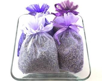 Four 4x6 Lavender Sachets, Lavender Sachet Set