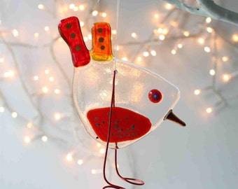handmade gift | ruby robin bird | christmas gift | christmas bird