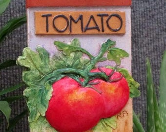Tomato vegetable garden marker