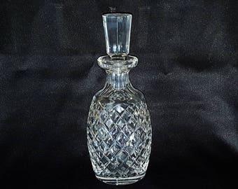 Vintage Signed Waterford Alana Pattern Decanter ~ Elegant Cut Crystal