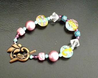 Spring Bracelet in Pink