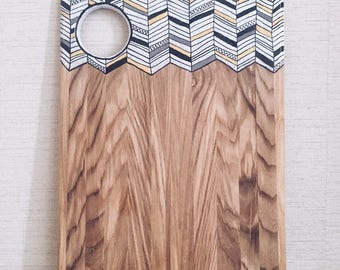 Cheese Board, Serving board, Sutting board, wooden chopping board with print Cyrnaja serving Board, for filing with a pattern