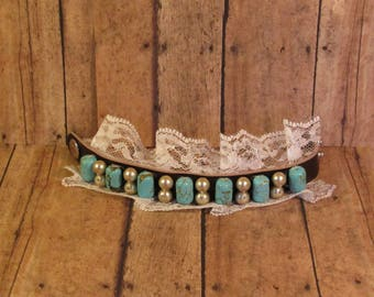Leather & Lace Bracelet