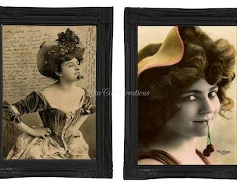 Vintage Style Sassy French Women Prints