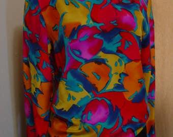 Vintage 80's Silk Blouse S/M