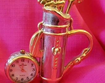 Golf club minature clock- golf club
